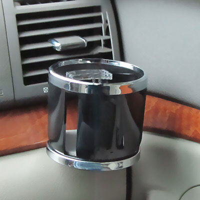 Chrome Clip on Cup Holder for Cars / Van Air Vent Holds Water Bottle Drink Cups