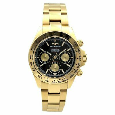 TECHNOS Men's watch All stainless steel main dial chronograph T4496-GB F/S NEW