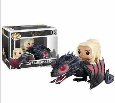 NEW Funko Boxed Pop Rides Game Of Thrones Daenerys & Drogon Vinyl Figure GCX