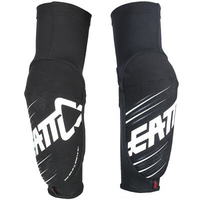 Leatt 5.0 Lbr Elbow Guards Adult Black/white Ideal For Motocross Size Xl