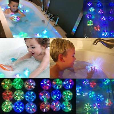 Kids Baby LED Light Toys Waterproof Party In The Tub Bath Fun Toy Color Changing