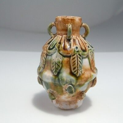 Ancient 8th Century Tang Dynasty Sancai Glaze Scent Perfume Flask Bottle Chinese