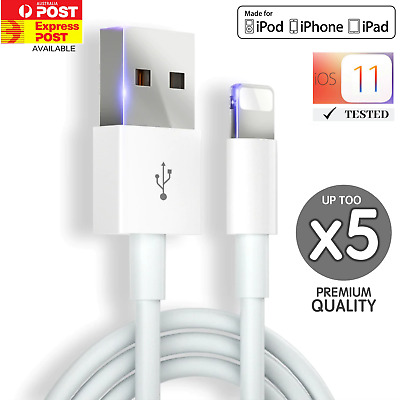5x USB Cable Charger for Apple iPhone X  8 7 6 5 5s Xr max iPad 1M Charging Cord