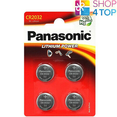 4 Panasonic Lithium Power Cr2032 Batteries 3V Coin Cell Blister Exp 2028 New