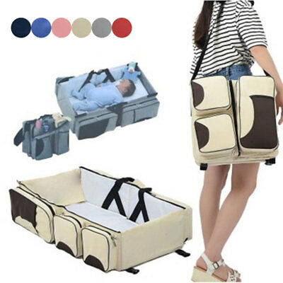 Baby Portable Folding Crib Travel Bed Multifunction Baby Cot Shoulder Carry Bag