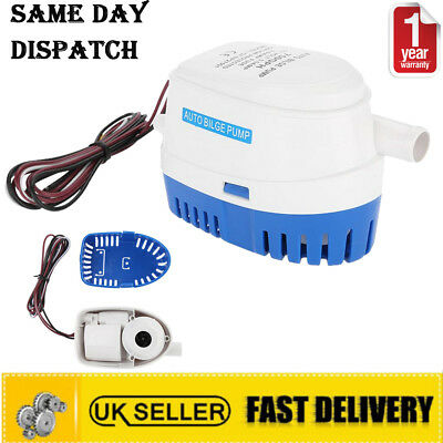 12V 750GPH Boat Automatic Submersible Auto Bilge Water Pump Float Switch