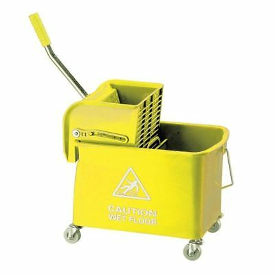 Yellow Mobile Mop Bucket and Wringer 20 Litre 101248YL [CNT00055]