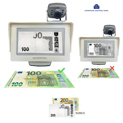 "Verifica soldi falsi World bank vision 4,3"" Infrared money detector Euro Dollari"