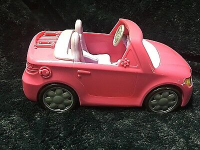 Fisher Price Loving Family Dollhouse Pink Convertible Car Vehicle With Sounds