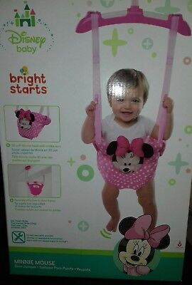 New Baby Disney Minnie Mouse Door Bouncer Jumper Swing Pink +Free Gift Wrap £28