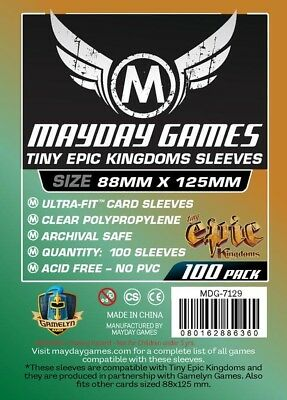 100x Custom Tiny Epic Kingdoms Sleeves (88 X 125 MM) MDG7129