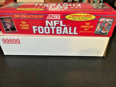 Score Nfl Football 1990 Collector Set-The Complete Set (Series 1 & 2) 665 Cards