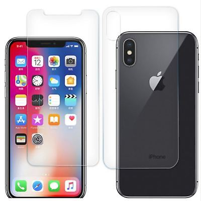 Gard® Crystal Clear Tempered Glass Screen Front and Back Protector For iPhone XS