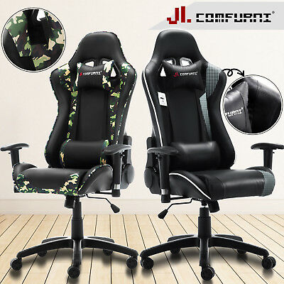 Crossover Swivel Gaming Office Chair Racing Sports Lift Recline New JL Comfurni