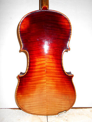 """Vintage Old Antique """"Stradiuarius - Conservatory"""" 2 Pc Back Full Size Violin"""