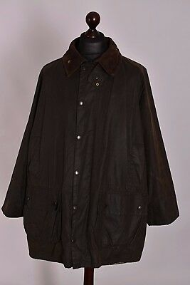 Men's Barbour Gamefair Green Waxed Jacket Size C48 / 122cm Genuine Casual Waxed