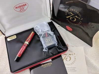 NEW OLD STOCK-Aurora 75th Anniversary Limited Edition Fountain Pen-18K Medium