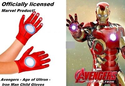 Avengers - Age of Ultron - Iron Man Child Gloves  Marvel  -  Free Shipping