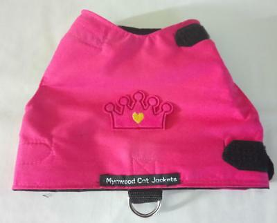 Mynwood Cat Walking Jacket Harness Pink with Pink Crown Adult cat or Kitten