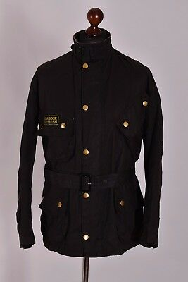 Men's Barbour International Waxed Jacket Size C44 / 112cm Genuine Casual