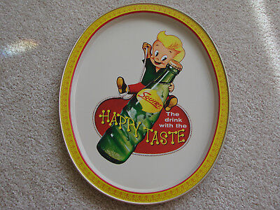 "Squirt soda pop metal tin serving/tip tray ""The drink with the HAPPY TASTE"""