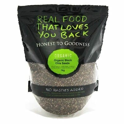 Honest to Goodness Organic Black Chia Seeds 1kg