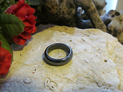 Vintage Natural Hematite GemStone Band Ring