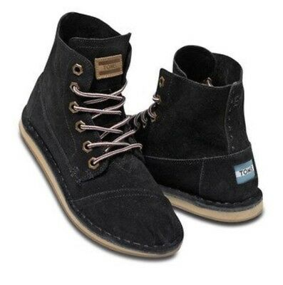 Toms Shoes Tomboy Boot Black Suede Womens US 9 Brand New in Box