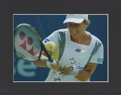Monica Seles Tennis Wimbledon Original Hand Signed 10X8 Mounted Autograph Photo