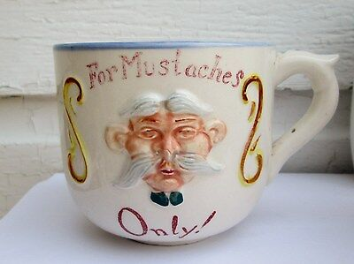 "VINTAGE 1956 GEO Z LEFTON NY ? Mustache CUP-JAPAN. ""FOR MUSTACHES ONLY"""