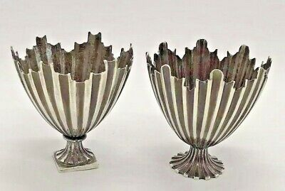 Ottoman Antique Silver Zarf Pair Of Coffee Holder - Unusual Shape