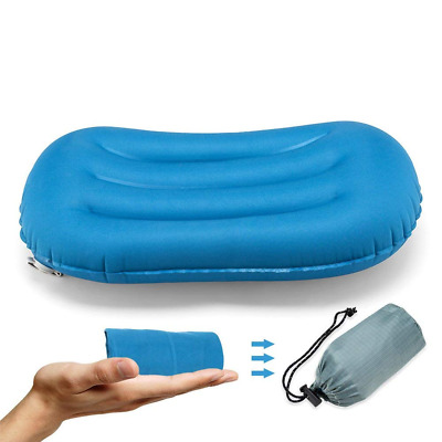 Ultralight Inflating Travel Pillow Support Inflatable Compressible Compact Air