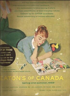 Eaton's of Canada Spring and Summer 1959 Catalog in EX condition 508 pages