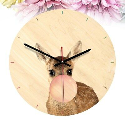1Pcs Nordic Style Clock Wooden Round Clock Timer for Nursery Bedroom Living Room