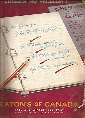 Eaton's of Canada Fall and Winter 1956/57 Catalog in EX condition 616 pages