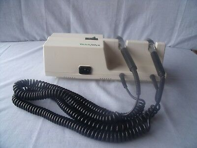 Welch Allyn 767Series Grey Otoscope/Ophthalmoscope Wall Transformer No Heads! T4