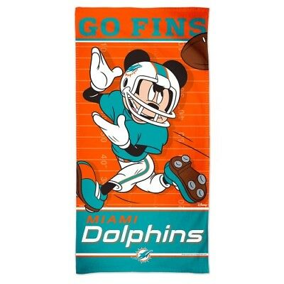 6bf2b5f3593 MIAMI DOLPHINS MICKEY Mouse Spectra Beach Towel 30