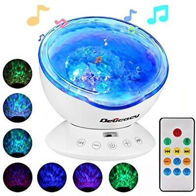 Ocean Wave Picture & Display Lighting Projector,Delicacy 12 LED Remote Control