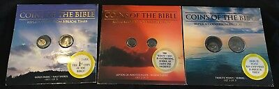 Whitman COINS OF THE BIBLE Complete Set of 3 w/ 2 Replica Coins in Each