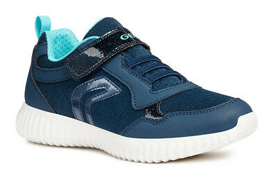 Geox J Waviness G B Girls Navy/Watersea Trainers - 100% Positive Review
