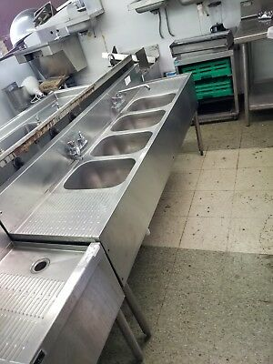 4 compartment bar sink