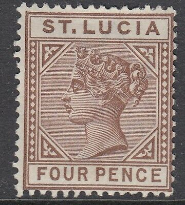 ST. LUCIA SG48, 1d brown - mounted mint