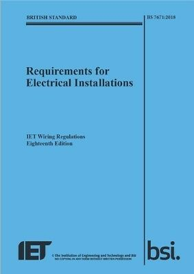 BS 7671:2018 IET Wiring Regulations, 18th Edition, Electrical. PDF Download book
