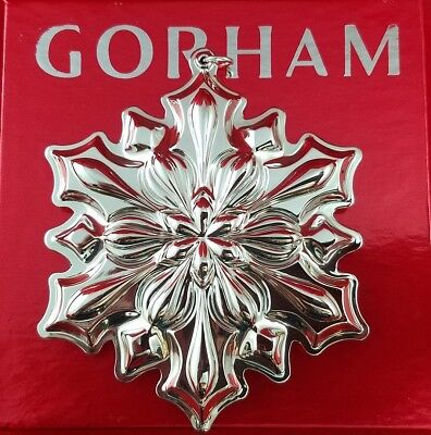 Gorham 2018 Annual Sterling Silver Snowflake Ornament 49th Edition New In Box