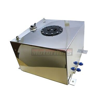 10 Gallon Fabricated Aluminum Fuel Cell Gas Tank With 0-90 Ohm Sending Unit SBC