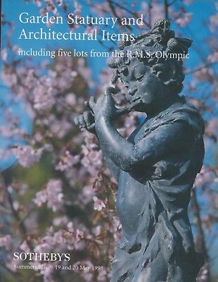 GARDEN SCULPTURE ARCHITECTURAL ITEMS + from R M S OLYMPIC  AUCTION CATALOGUE