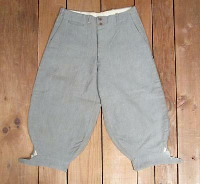 Vintage 1920s Gray Wool Herringbone Twill Boys Trousers Pants Breeches Antique