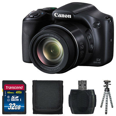 Canon PowerShot SX530 HS Digital Camera 50x Optical Zoom Lens Full HD Video +Kit