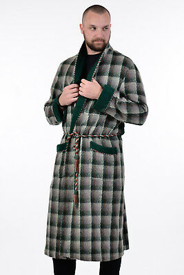 Vintage 1960's Jacques Of London Tartan Wool Dressing Gown House Robe M-L