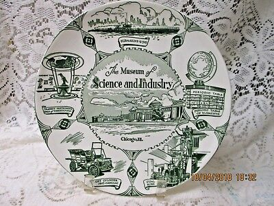Vintage Souvenir Porcelain Plate Chicago Museum of Science and Industry